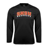 Syntrel Performance Black Longsleeve Shirt-Arched SHSU Bearkats