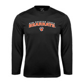 Syntrel Performance Black Longsleeve Shirt-Arched Sam Houston State Bearkats w/Paw