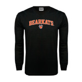 Black Long Sleeve TShirt-Arched Bearkats w/Paw