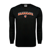 Black Long Sleeve TShirt-Arched Sam Houston State Bearkats w/Paw