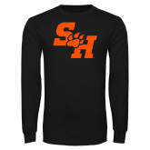Black Long Sleeve T Shirt-Primary Athletics Mark