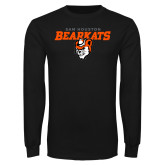 Black Long Sleeve T Shirt-Sam Houston Secondary Mascot Lock Up