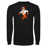 Black Long Sleeve T Shirt-Bearkat Full Body