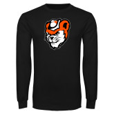 Black Long Sleeve T Shirt-Bearkat Head