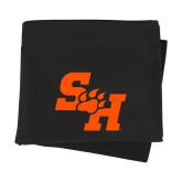Black Sweatshirt Blanket-Primary Athletics Mark