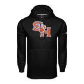 Under Armour Black Performance Sweats Team Hood-SH Paw Official Logo