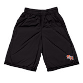 Midcourt Performance Black 9 Inch Game Short-SH Paw Official Logo