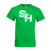 Kelly Green T Shirt-SH Paw Official Logo