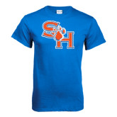 Royal Blue T Shirt-SH Paw Official Logo Distressed