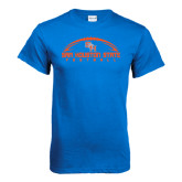 Royal Blue T Shirt-Arched Football Design