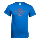 Royal Blue T Shirt-Tall Football Design