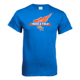 Royal Blue T Shirt-Track and Field Side Design