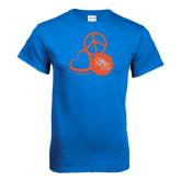 Royal Blue T Shirt-Volleyball Design