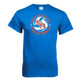 Royal Blue T Shirt-Volleyball Stars Design