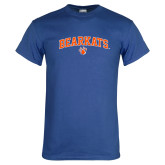 Royal T Shirt-Arched Bearkats w/Paw