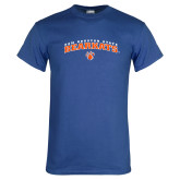 Royal T Shirt-Arched Sam Houston State Bearkats w/Paw