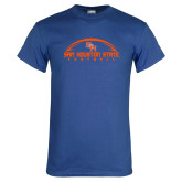 Royal T Shirt-Arched Football Design