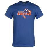 Royal T Shirt-Soccer Swoosh