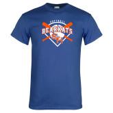 Royal T Shirt-Softball Design w/ Bats and Plate