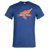 Royal T Shirt-Track and Field Side Design