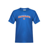 Youth Royal Blue T Shirt-Arched Sam Houston State Bearkats w/Paw