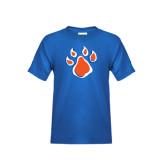 Youth Royal Blue T Shirt-Paw