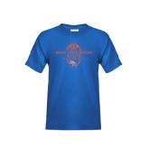 Youth Royal Blue T Shirt-Tall Football Design