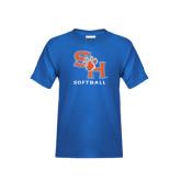 Youth Royal Blue T Shirt-Softball