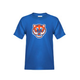 Youth Royal Blue T Shirt-Bearkat Head