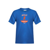 Youth Royal Blue T Shirt-Golf Stacked
