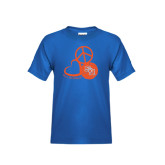 Youth Royal Blue T Shirt-Volleyball Design