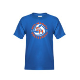 Youth Royal Blue T Shirt-Volleyball Stars Design