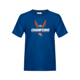 Youth Royal Blue T Shirt-Southland Conference Indoor Track and Field Champions
