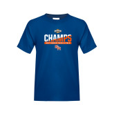 Youth Royal T Shirt-Southland Conference Indoor Track and Field Champions