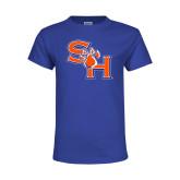 Youth Royal T Shirt-SH Paw Official Logo