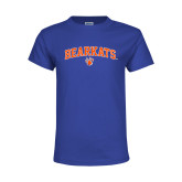 Youth Royal T Shirt-Arched Bearkats w/Paw