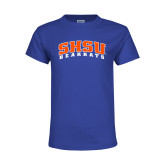 Youth Royal T Shirt-Arched SHSU Bearkats