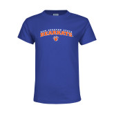 Youth Royal T Shirt-Arched Sam Houston State Bearkats w/Paw