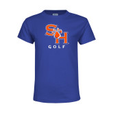 Youth Royal T Shirt-Golf