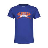 Youth Royal T Shirt-Baseball Bats