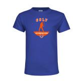 Youth Royal T Shirt-Golf Stacked