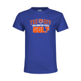 Youth Royal T Shirt-Golf Tee Off