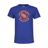 Youth Royal T Shirt-Soccer Circle