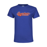 Youth Royal T Shirt-Softball Lady Design