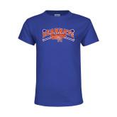 Youth Royal T Shirt-Baseball Design