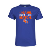 Youth Royal T Shirt-Tennis Game Set Match