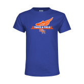 Youth Royal T Shirt-Track and Field Side Design