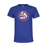 Youth Royal T Shirt-Volleyball Stars Design