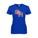 Ladies Royal T Shirt-SH Paw Official Logo