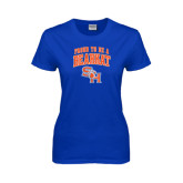 Ladies Royal T Shirt-Proud To Be A Bearkat Arched
